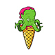 Ice Cream Cone Baby Octopus - GraphicRiver Item for Sale