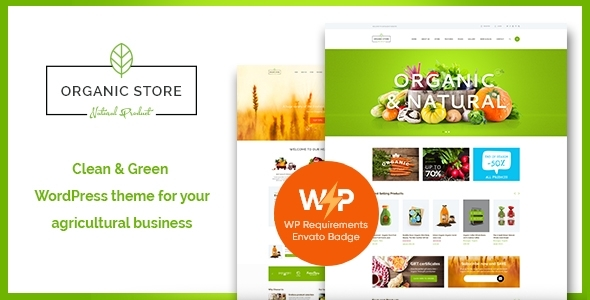 Organic Store | Eco Products Shop WordPress Theme + RTL