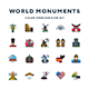 World Monuments Icons - GraphicRiver Item for Sale