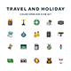 Travel and Holiday Icons - GraphicRiver Item for Sale