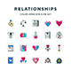 Relationships Icons - GraphicRiver Item for Sale