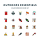 Outdoors Essentials Icons - GraphicRiver Item for Sale