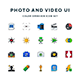 Photo and Video UI Icons - GraphicRiver Item for Sale