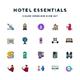 Hotel Essentials Icons - GraphicRiver Item for Sale