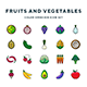 Fruits and Vegetables Icons - GraphicRiver Item for Sale