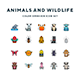 Animals and Wildlife Icons - GraphicRiver Item for Sale