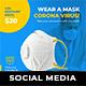 Corona Virus Social Media Templates - GraphicRiver Item for Sale