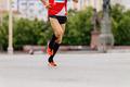 man runner in black compression socks - PhotoDune Item for Sale