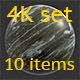 Stone black 4K Texture set 10 items - 3DOcean Item for Sale