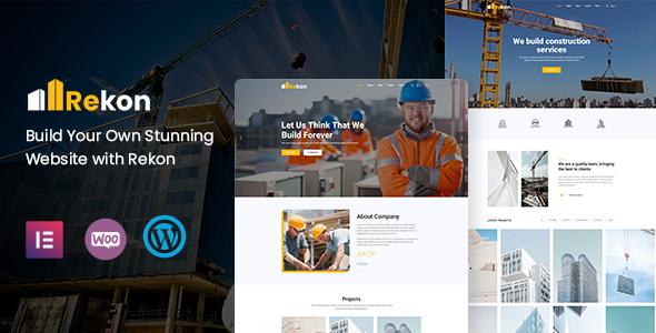 Rekon – Construction WordPress Theme Preview