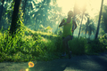 Running on morning tropical forest trail - PhotoDune Item for Sale
