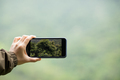 Taking picture with mobile phone in spring nature - PhotoDune Item for Sale