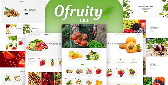 Ofruity - Organic Food/Fruit/Vegetables eCommerce Shopify Theme