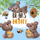 Bears and Honey - GraphicRiver Item for Sale
