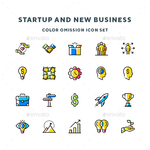Startup And New Business Icons