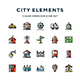City Elements Icons - GraphicRiver Item for Sale
