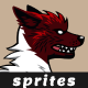 Red Wolf Sprites | Game Asset Character - GraphicRiver Item for Sale