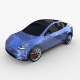 Tesla Model Y AWD Blue with chassis - 3DOcean Item for Sale