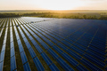 Aerial top view of a solar panels power plant - PhotoDune Item for Sale