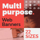 Multipurpose Web Banners - GraphicRiver Item for Sale