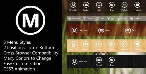 MetroNav - Metro Navigation Bar ver. CSS
