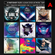 9 PSD Electro - Music Album Cover Artwork Template - GraphicRiver Item for Sale