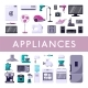 Home Appliances Set - GraphicRiver Item for Sale