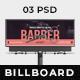 Barber Billboard - GraphicRiver Item for Sale