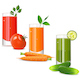 Vector Vegetable Juice Icons - GraphicRiver Item for Sale