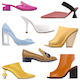 Vector Spring Female Shoes Icons - GraphicRiver Item for Sale
