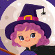 Witch Flying Across the Sky - GraphicRiver Item for Sale