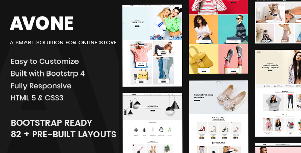 Download Avone Multipurpose eCommerce Bootstrap 4 HTML Template Nulled
