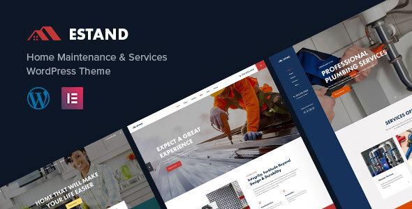 Estand | Home Maintenance WordPress Theme Preview