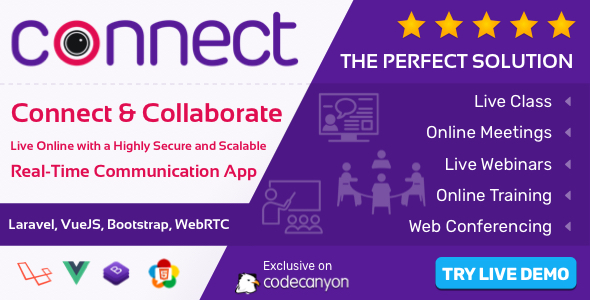 Connect - Live Class, Meeting, Webinar, Online Training & Web Conference Download