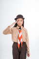 girl scout giving salute gesture - PhotoDune Item for Sale