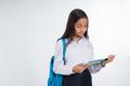 girl junior high school student using tablet pc - PhotoDune Item for Sale