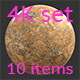 Stone yellow 4K Texture set 10 items - 3DOcean Item for Sale