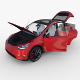 Tesla Model Y Red with interior - 3DOcean Item for Sale