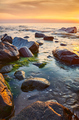 Seascape with rocks in water at sunset. - PhotoDune Item for Sale