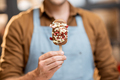 Seller with a chocolate ice cream, close-up - PhotoDune Item for Sale