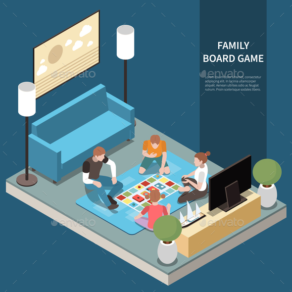 Family Isometric Leisure Playing Composition