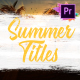 Colorful Summer Titles | Premiere Pro MOGRT