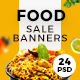 Food & Restaurant Web Ad Banners - GraphicRiver Item for Sale