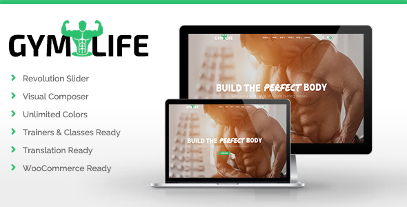 GymLife - Gym, Yoga & Fitness WordPress Theme