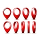 Realistic Detailed 3D Red Map Pointer Pin Set - GraphicRiver Item for Sale
