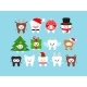 Chistmas Cute Teeth Icon Set in Carnival Costume - GraphicRiver Item for Sale