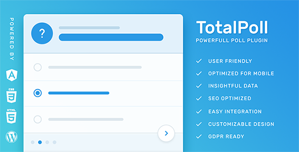 TotalPoll Pro – Responsive WordPress Poll PluginPrice : $20