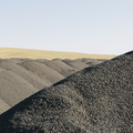 Gravel piles used for road maintenance and construction, a row of heaps near Pullman, Washington,USA - PhotoDune Item for Sale