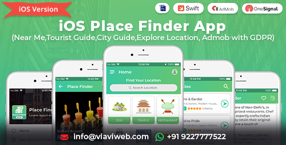 iOS Place Finder (Near Me,Tourist Guide,City Guide,Explore Location, Admob with GDPR) Download