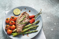 Beef steak with asparagus and cherry tomato - PhotoDune Item for Sale